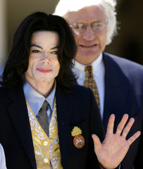 Michael Jackson departs courthouse after his child molestation trial in Santa Maria, California.