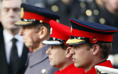 Britain's Prince William attends annual Remembrance Sunday ceremony at Cenotaph in Whitehall in London