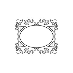 Vintage Calligraphic Square Frame - Decorative Floral Element with Lines, Flourishes, Scrolls and Swirls Isolated in Black Vector - for Page Decor, Borders, Letters, Invitations, Cards, Logo or Menu