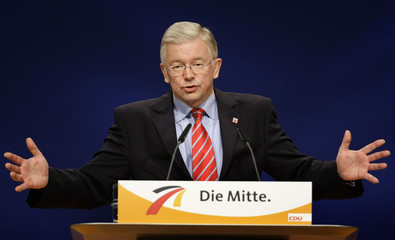 Federal state Prime Minister of Hesse Koch gives a speech during the CDU party congress in Hanover