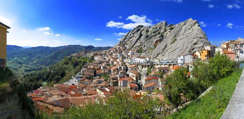 Pietrapertosa village built in the mountain rock, Basilicata, Italy