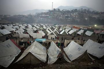 A view of Alkhedmat refugee camp in devastated city of Muzaffarabad