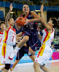 Taurasi of the US shoots during Olympic basketball game against China in Athens.