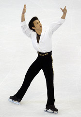HONDA OF JAPAN SKATES IN THE WORLD CHAMPIONSHIPS MENS FREE SKATE.