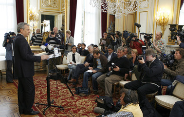 Belgium's Francophone Liberal Party (MR) President Didier Reynders attends a news conference in Brussels