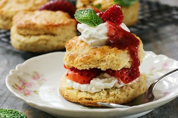 Homemade Strawberry shortcake  / Mothers day dessert
