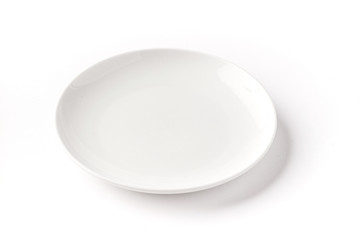 Isolated Round plate on a white background