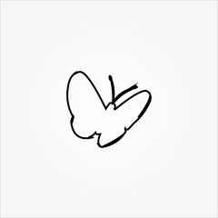butterfly line icon