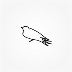 bird line icon