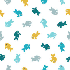 Seamless pattern - fishes