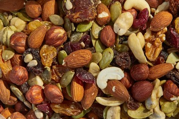 Mix of nuts and seeds