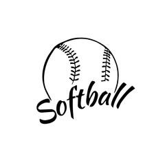 Softball icon, Vector illustration