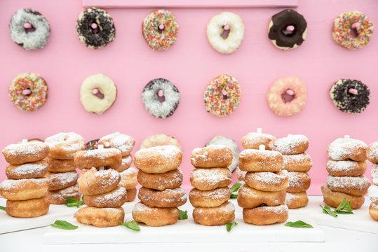 Freshly made doughnuts