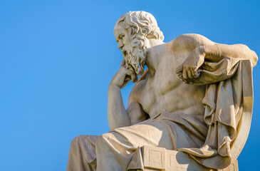 Marble statue of the Great ancient Greek philosopher Socrates