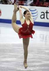 Emily Hughes of U.S performs during the Ladies Free Skating Competition at Skate America in Lake Placid, NY