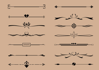 Set of Decorative Element Vector