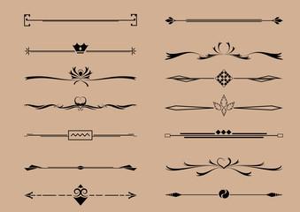 Set of Decorative Element Vector