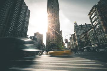 Flat Iron Building in the Morning Sun - New York