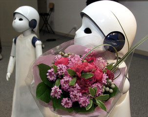 "Humanoid robot ""Posy"" jointly designed and developed by Silicon Graphics Inc (SGI) Japan and Japanes.."