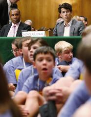 Former boxer Sugar Ray Leonard and singer Nick Jonas testify  on Capitol Hill in Washington