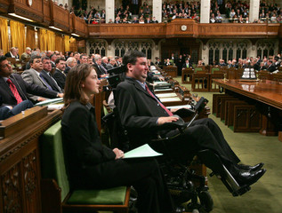 Conservative Party MP Steven Fletcher in the House of Commons.