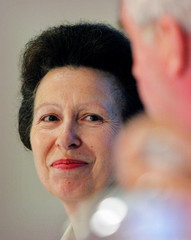 The Princess Royal attends a news conference in Singapore.