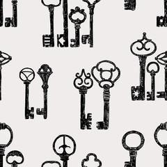 pattern of the vintage keys