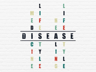 Health concept: Disease in Crossword Puzzle