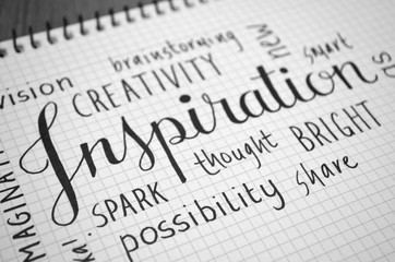 Hand Lettering Tag Cloud INSPIRATION