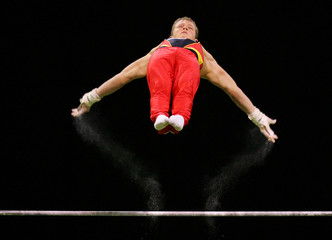 Hambuechen of Germany competes at the Artistic Gymnastics World Championships in Melbourne
