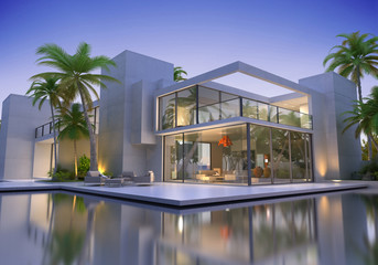 Huge modern villa with pool