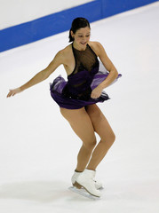 JENNIFER ROBINSON PERFORMS DURING LADIES SHORT PROGRAM AT SKATE CANADA.