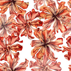 Background of a dried flower of a tulip. Seamless pattern.