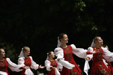 Russian folklore ensemble participate in folklore festival in Sofia