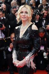 Singer Madonna arrives on the red carpet in Cannes