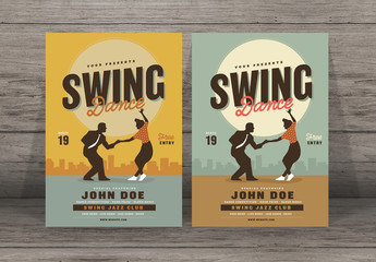 Swing Dance Event Flyer Layout