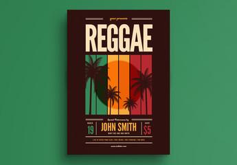 Reggae Music Event Flyer Layout