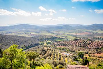 Paysage de Toscane vu depuis Capalbio