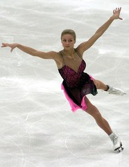 RUSSIA'S VOLOCHKOVA SKATES DURING THE CUP OF RUSSIA SKATING COMPETITIONIN MOSCOW.