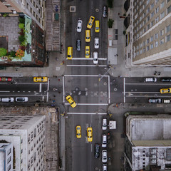Foto op Canvas New York TAXI New York City Aerial