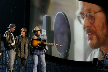 BILLY BOB THORNTON AND DWIGHT YOAKAM REHEARSE AT GRAMMYS IN LOS ANGELES.