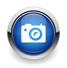 Camera Icon Blue Button