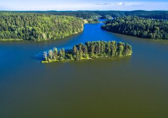 Karelia lake aerial view