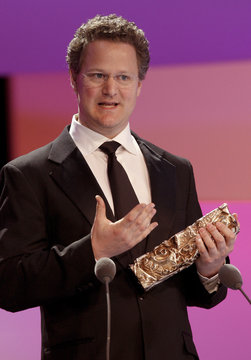 """German director Florian Henckel von Donnersmarck receives the best foreign film for """"La vie des autres"""" (The Lives of Others ) at the French Cesar ceremony in Paris"""
