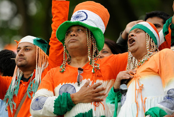 Indian fans before the ICC World Twenty20 cricket super eight match between India and the West Indies at Lord's cricket ground, London on June 12 2009.