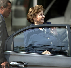 Lucia Pinochet, wife of former Chilean dictator Pinochet leaves the Military Hospital where Pinochet ...