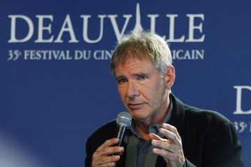 U.S. actor Harrison Ford attends a news conference at the 35th Deauville American film festival