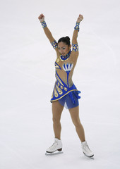 Miki Ando of Japan performs on her to winning the Women's Free Program competition at the ISU Grand Prix of Figure Skating NHK Trophy in Nagano