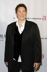 "Musician K.D. Lang arrives at the ""An Enduring Vision"" benefit for the Elton John AIDS foundation in New York"