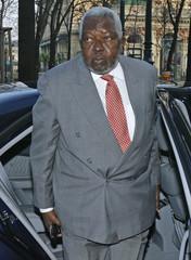 Angola's Oil Minister Desiderio da Graca Verissimo e Costa arrives in front of a Vienna hotel